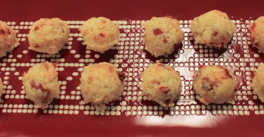 Candy Cane Coconut Balls