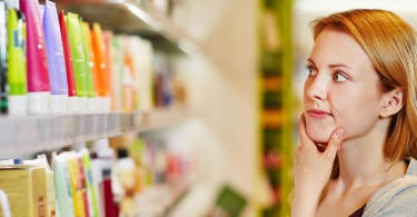 Woman Comparison Shopping Personal Care Items