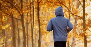 Man Running in Autumn