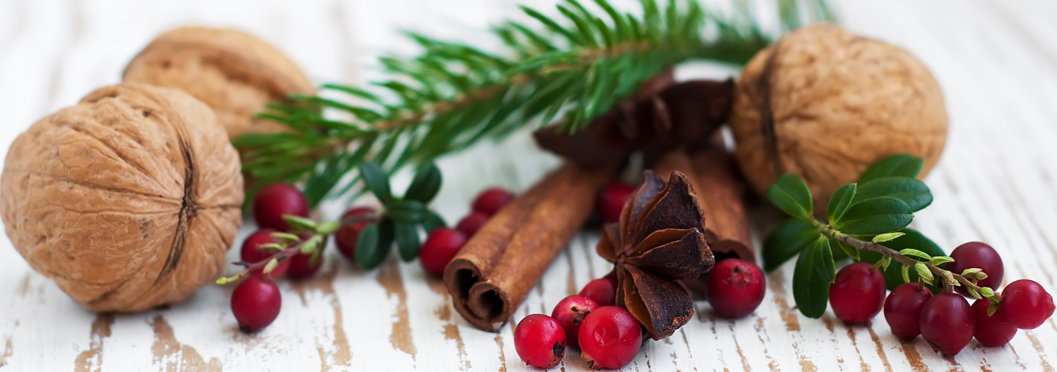 Cinnamon, Nuts, and Pine Sprigs