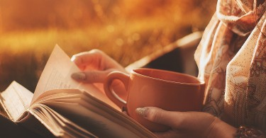 Reading with Cup of Tea
