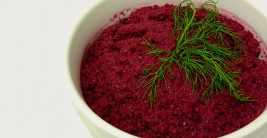 Beet Hummus with Fennel