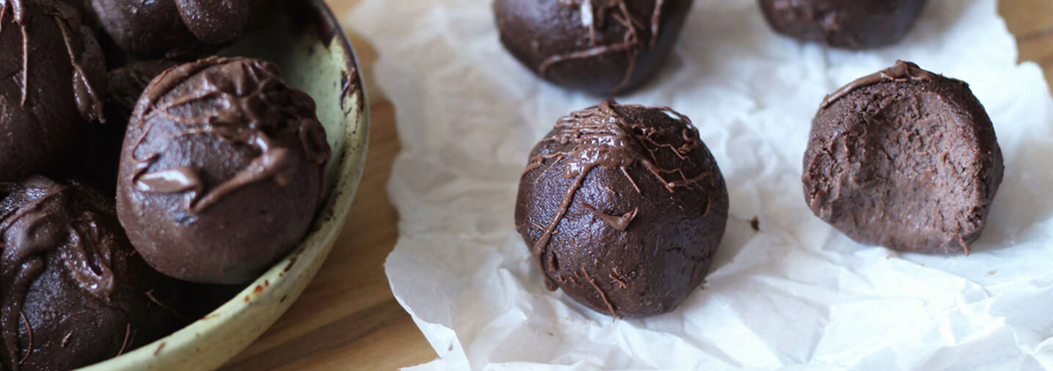 Salted Dark Chocolate Energy Balls
